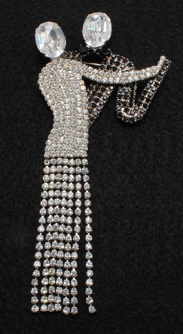 Brooch Pin. Butler & Wilson. Swarovski Crystal. Dancing