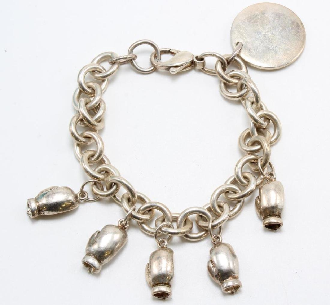 Tiffany & Co., AC. Charm Bracelet with Charms. Sterling