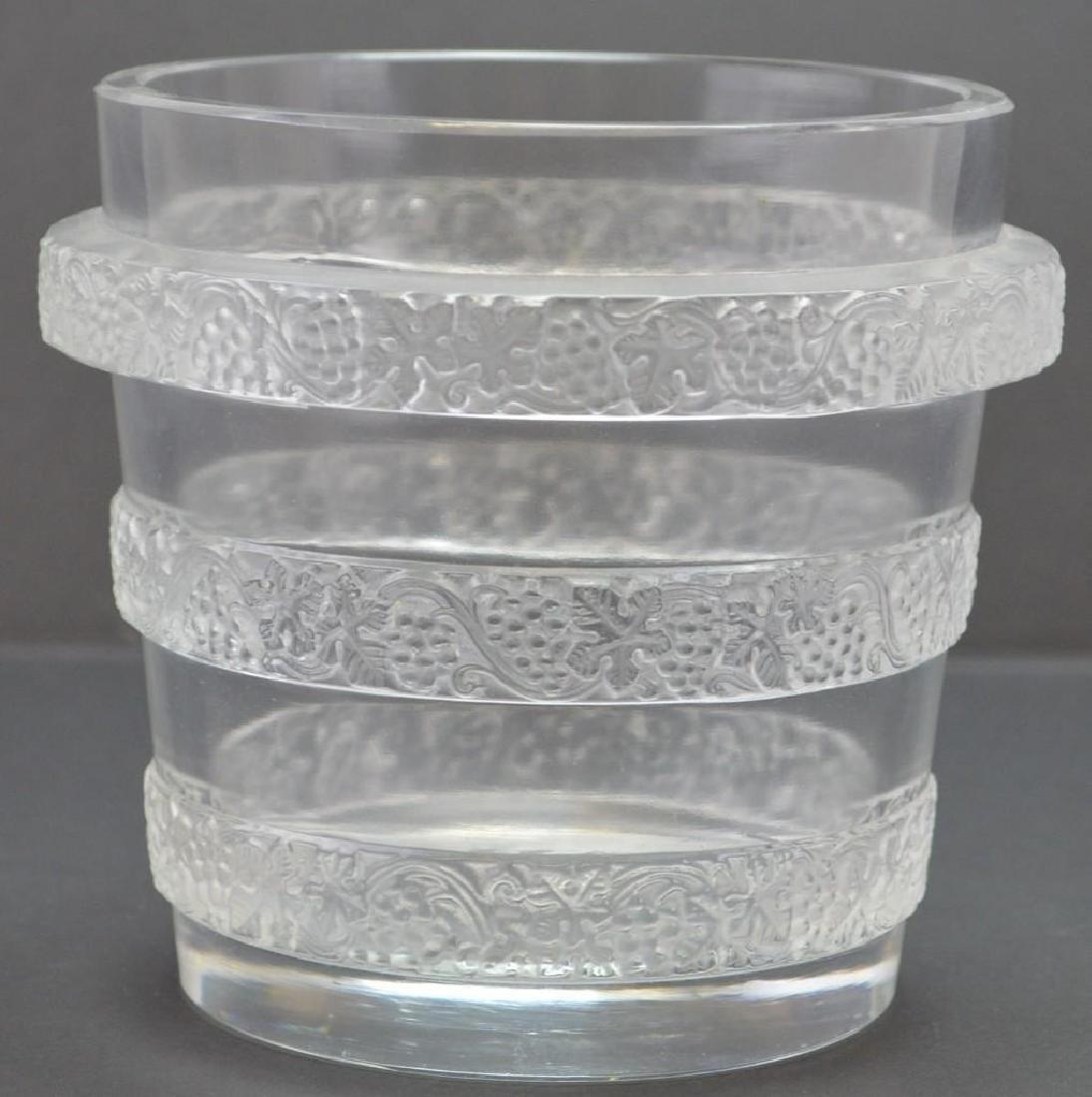 Lalique Crystal Ricquewihr Lave-Raisins Vase