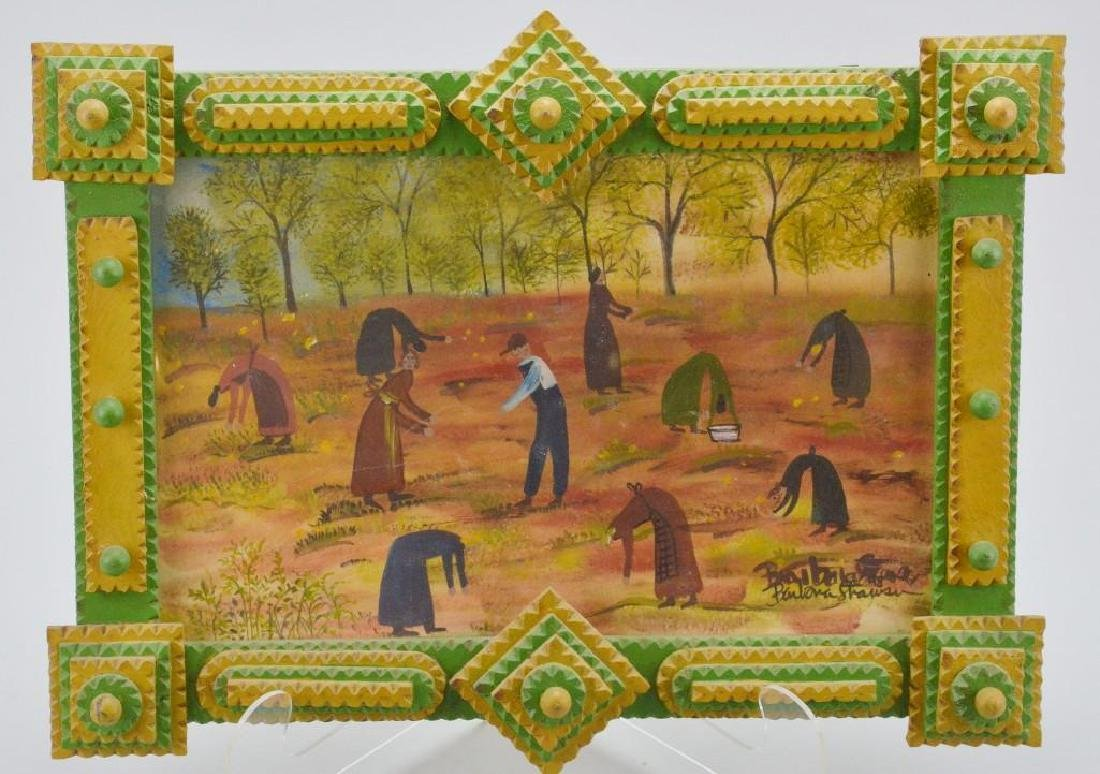 Strawser Folk Art Painting and Frame