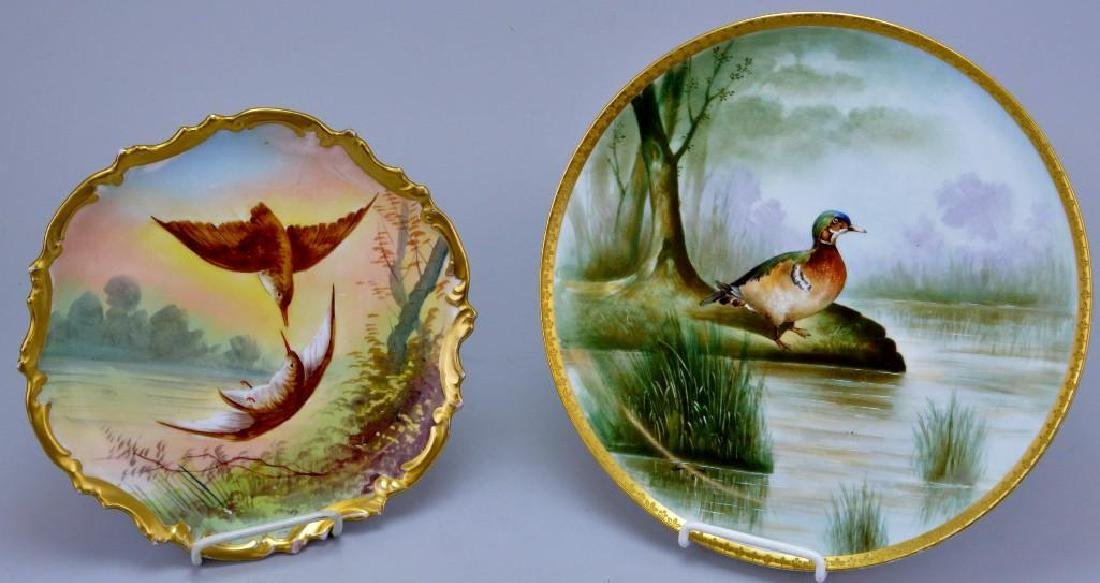 French Limoges Charger Grouping, Signed.