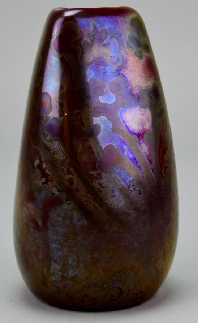 Weller Sicard Art Glass Vase