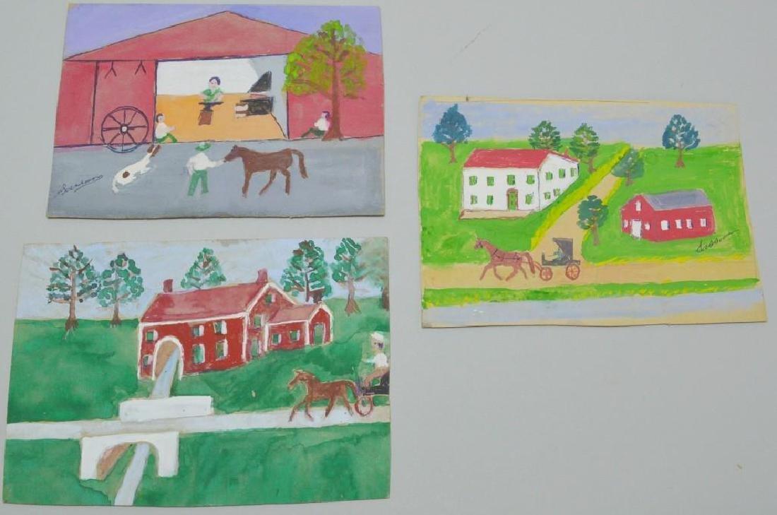Folk Art Painting Grouping by Sassaman