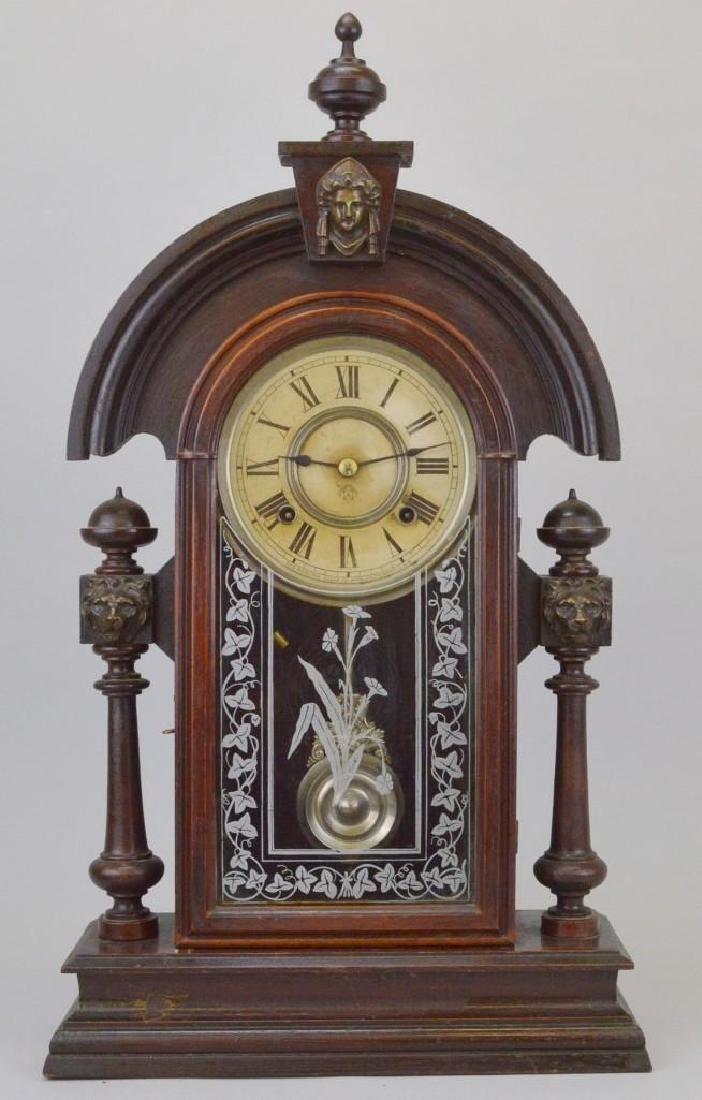 "Ansonia Walnut ""King"" Parlor Clock"