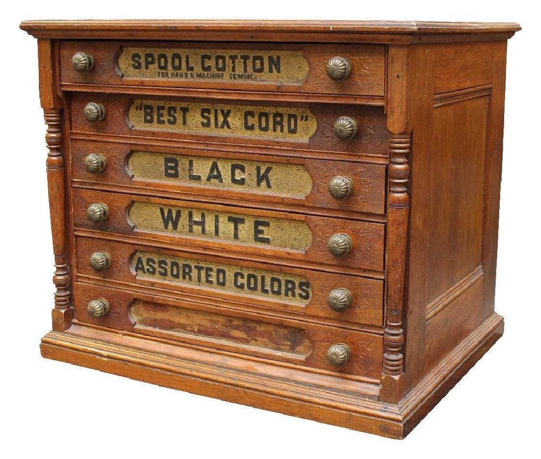 J & P Coats Spool Cabinet