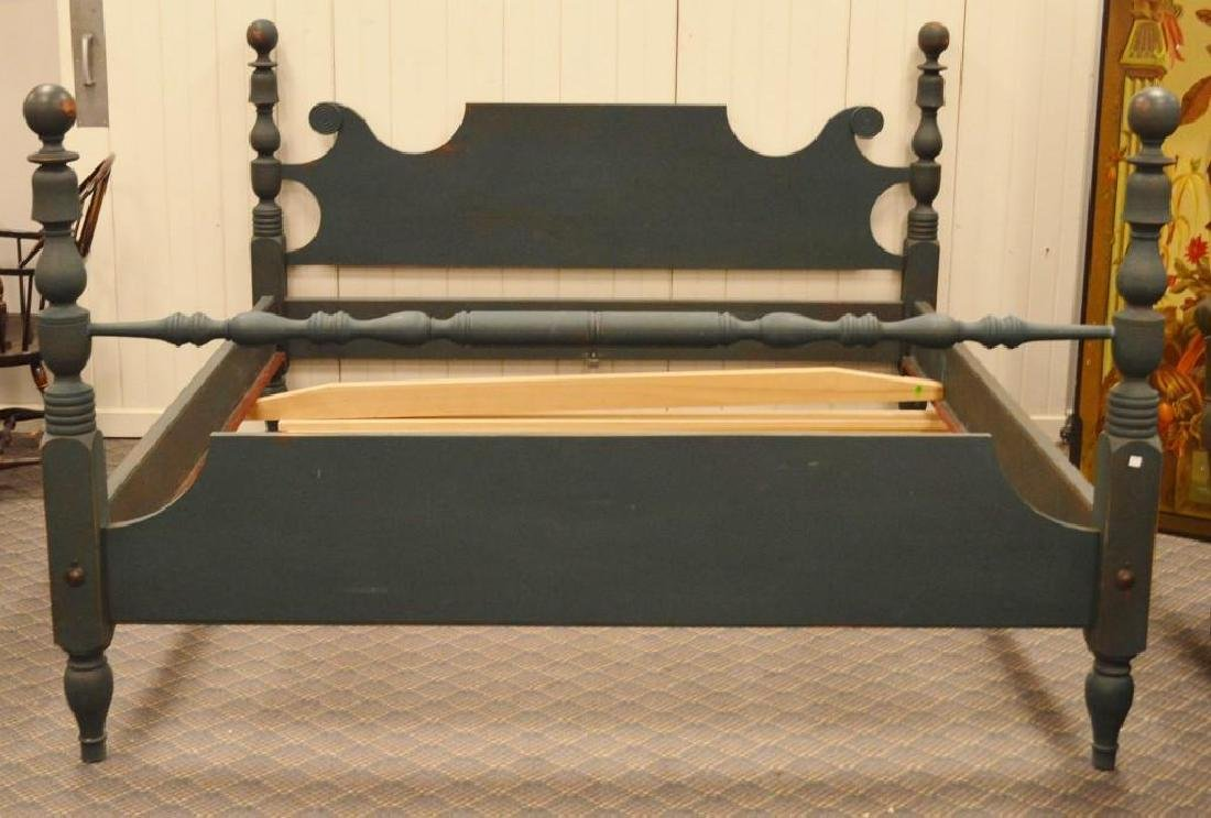Green Painted Four Poster Bed
