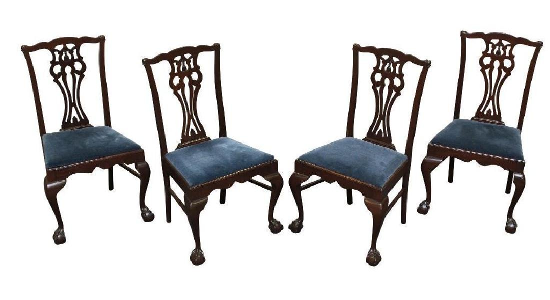 Set of (4) Chippendale Side Chairs