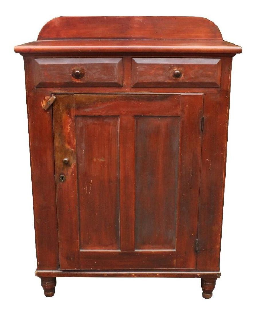 19th C. Red Wash Jelly Cupboard