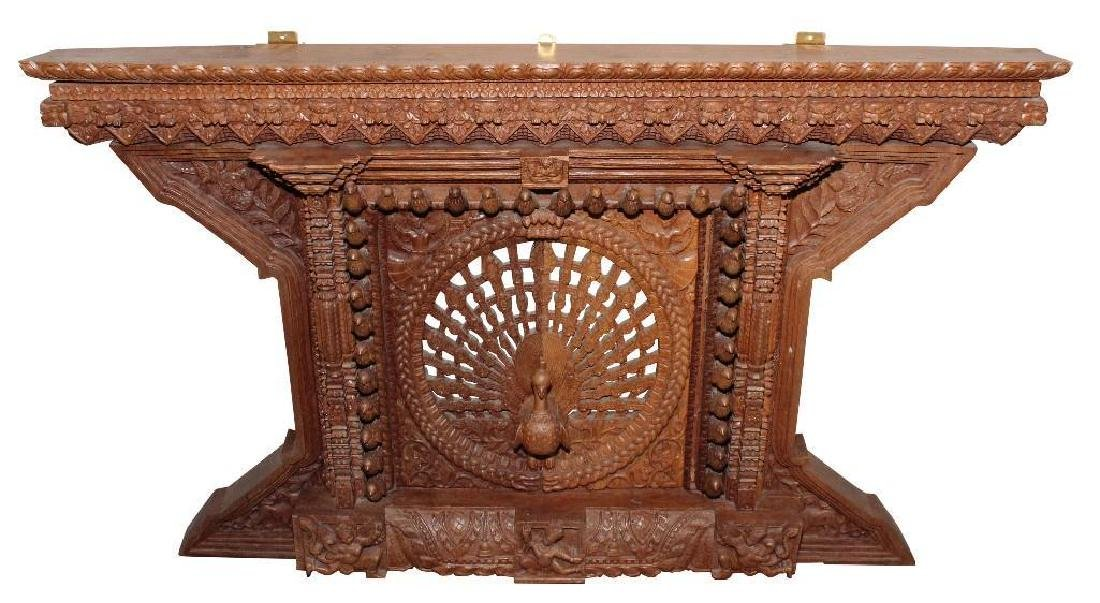 Asian Chipwood Carved Wall Sculpture