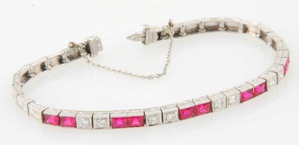 3250: Created Ruby and Diamond Bracelet