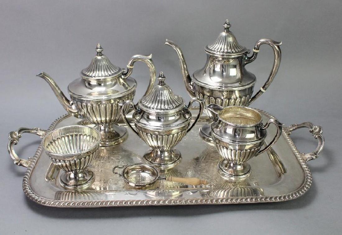 Dunkirk Silversmiths Sterling Silver Tea Service - 2