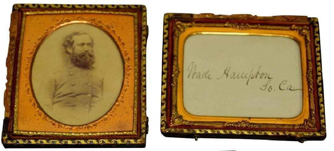 CDV and Autograph of Civil War Confederate General Wade
