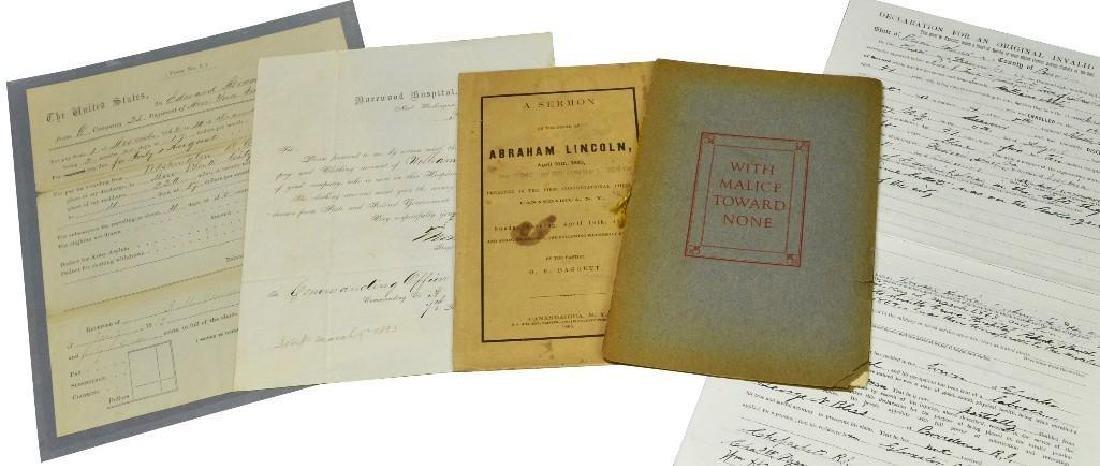 Grouping of Civil War Documents and Ephemera