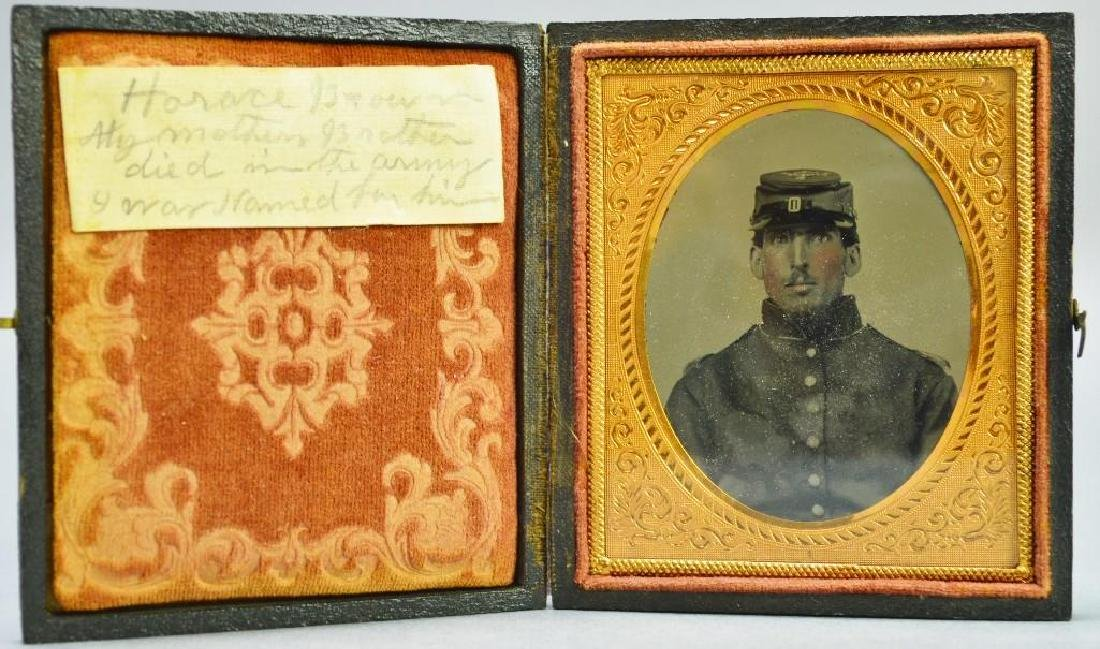 Civil War Ambrotype of Private Horace Brown-10th New