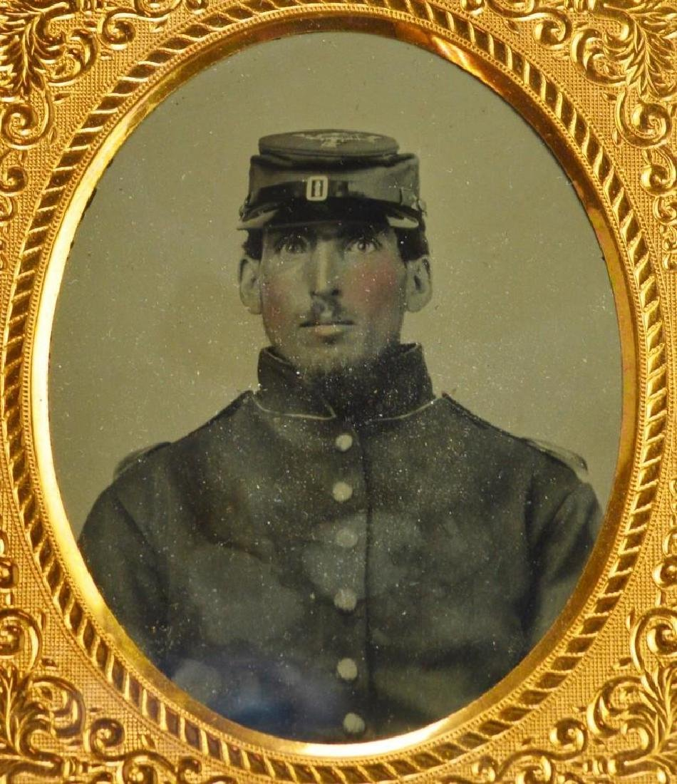 Civil War Ambrotype of Private Horace Brown-10th New - 2