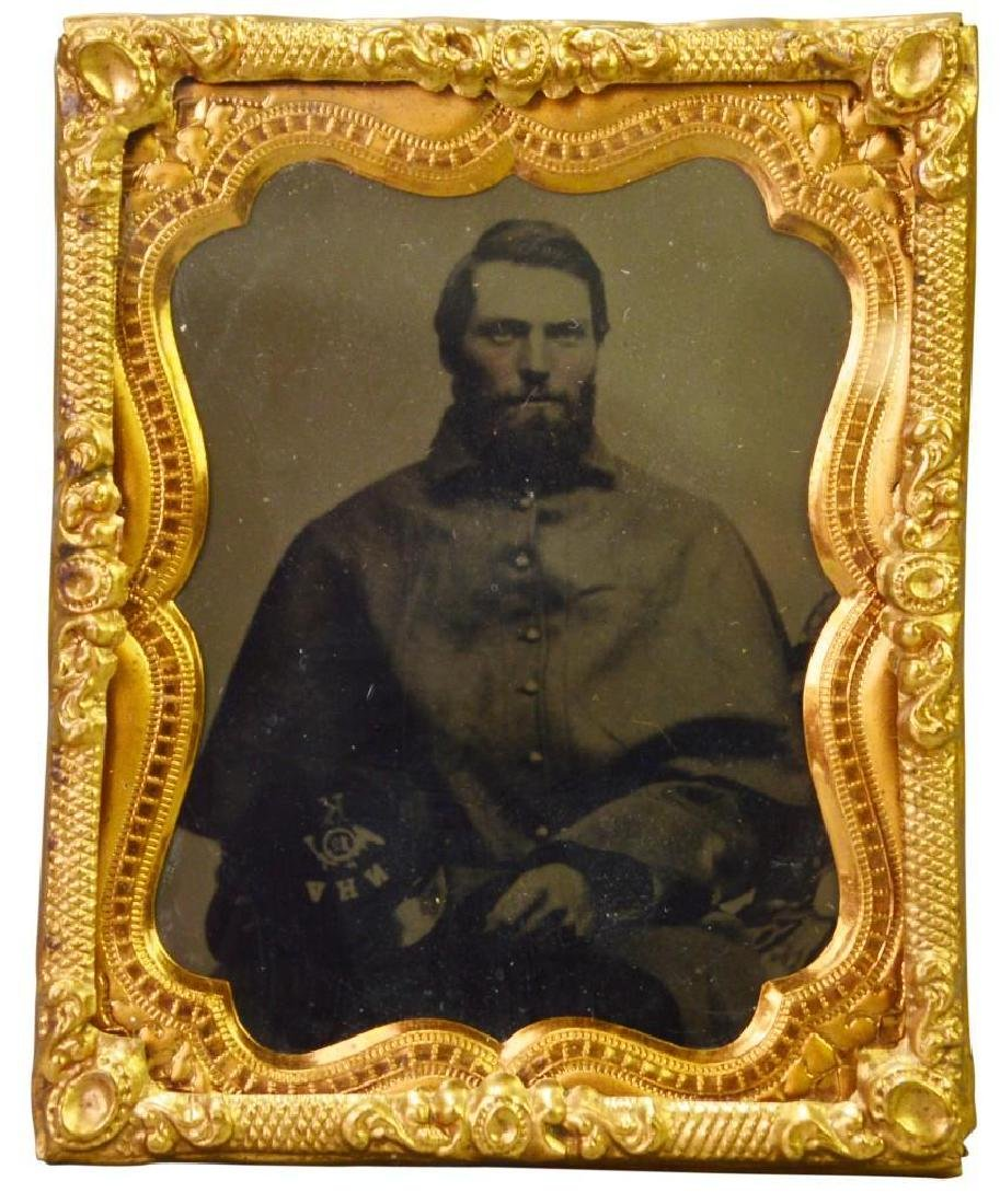 Civil War Tintype of Private Amos E. Bradley-12th New