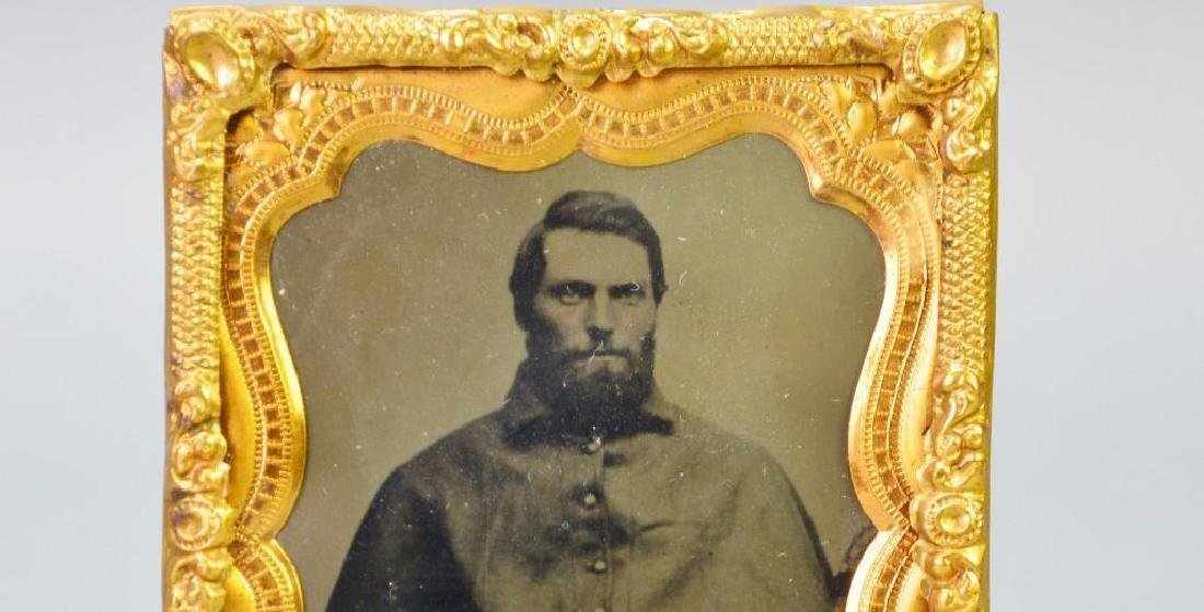 Civil War Tintype of Private Amos E. Bradley-12th New - 2
