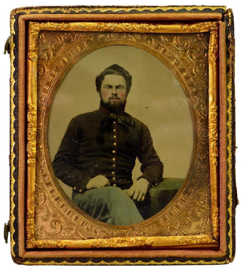 Civil War Tintype of Private William Dailey-7th