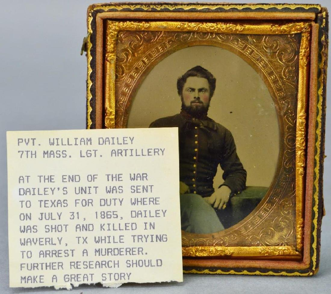 Civil War Tintype of Private William Dailey-7th - 4