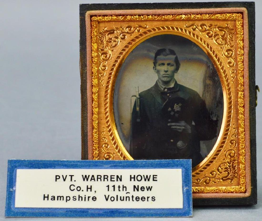 Civil War Ambrotype of Private Warren Howe-11th New - 5