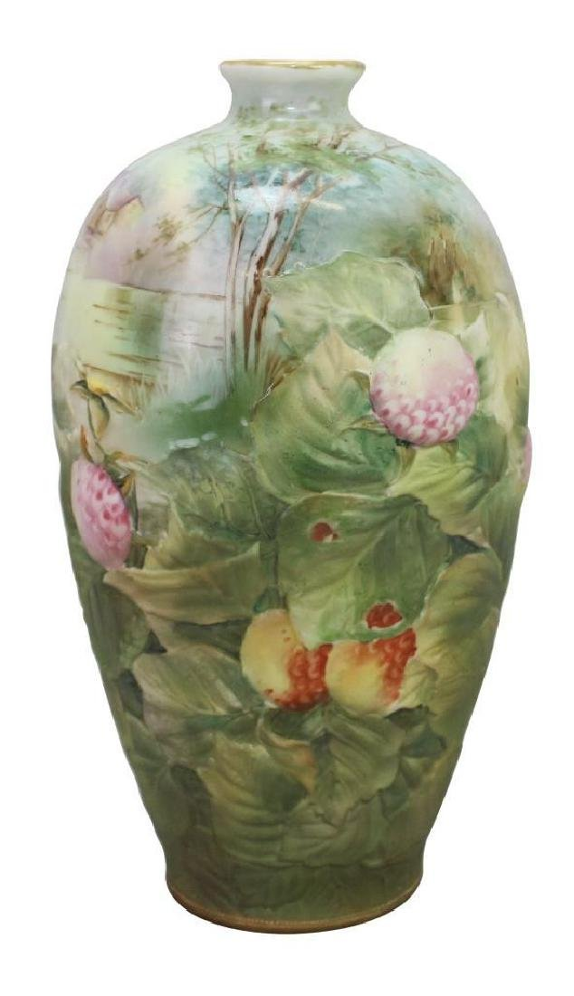 Hand-Painted Blown Out Nippon Vase