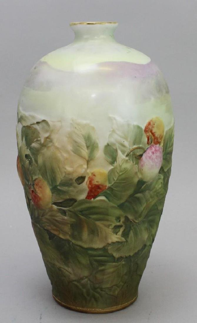 Hand-Painted Blown Out Nippon Vase - 2