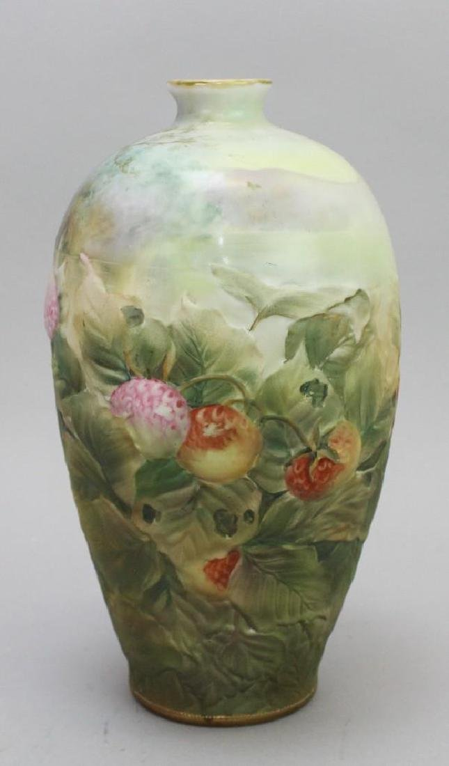 Hand-Painted Blown Out Nippon Vase - 3
