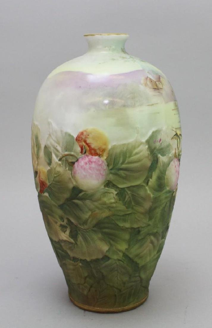 Hand-Painted Blown Out Nippon Vase - 4