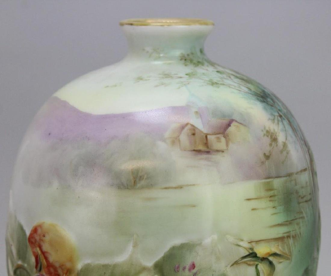 Hand-Painted Blown Out Nippon Vase - 7