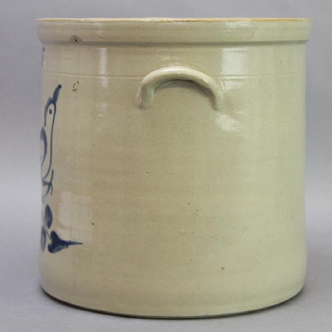 Blue Decorated Stoneware Crock - 3