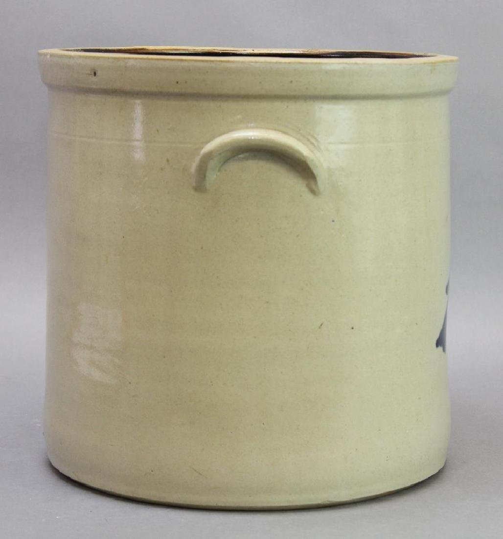 Blue Decorated Stoneware Crock - 5