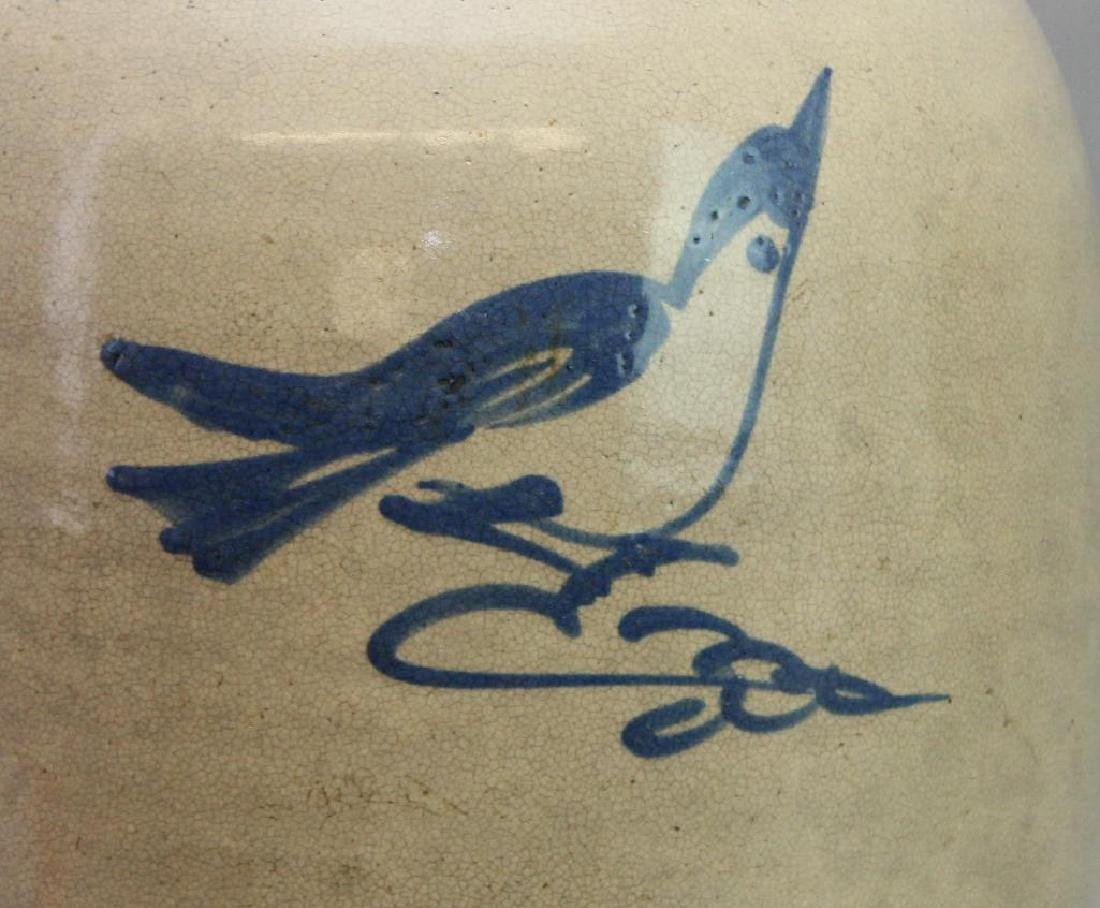 Blue Decorated Stoneware Jug - 2