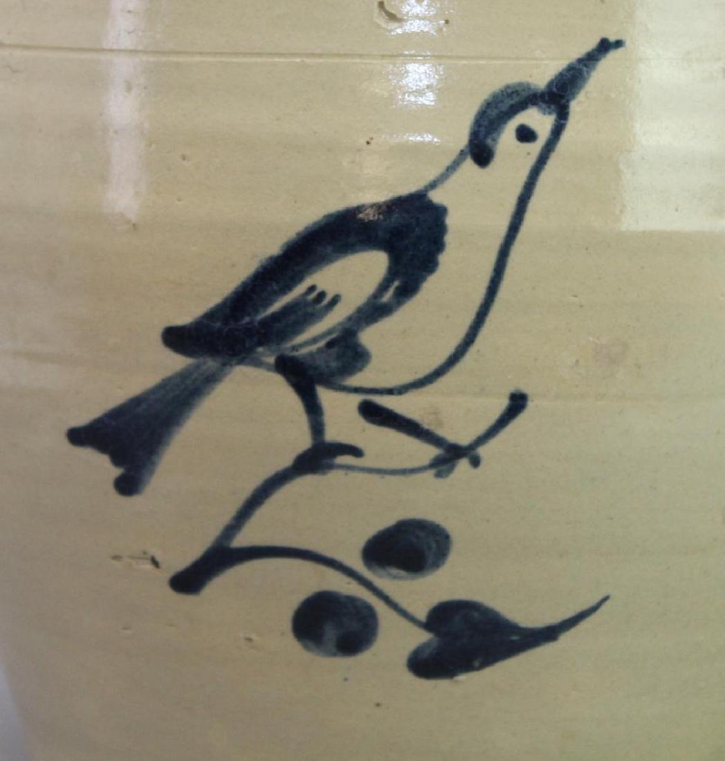 Blue Decorated Stoneware Crock - 3