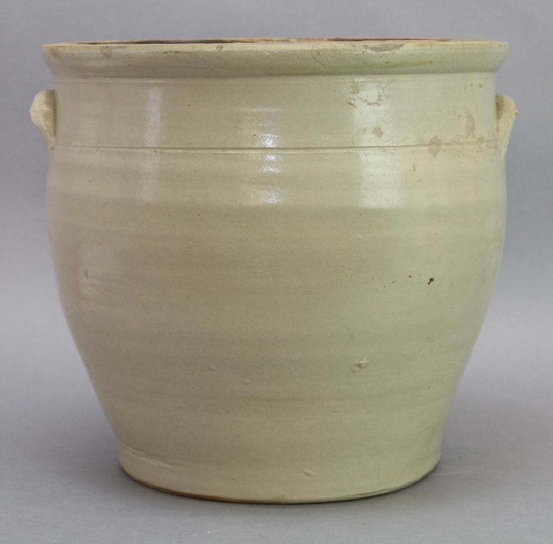 Blue Decorated Stoneware Crock - 5