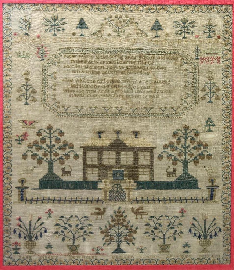 1839 Child's Sampler - 2