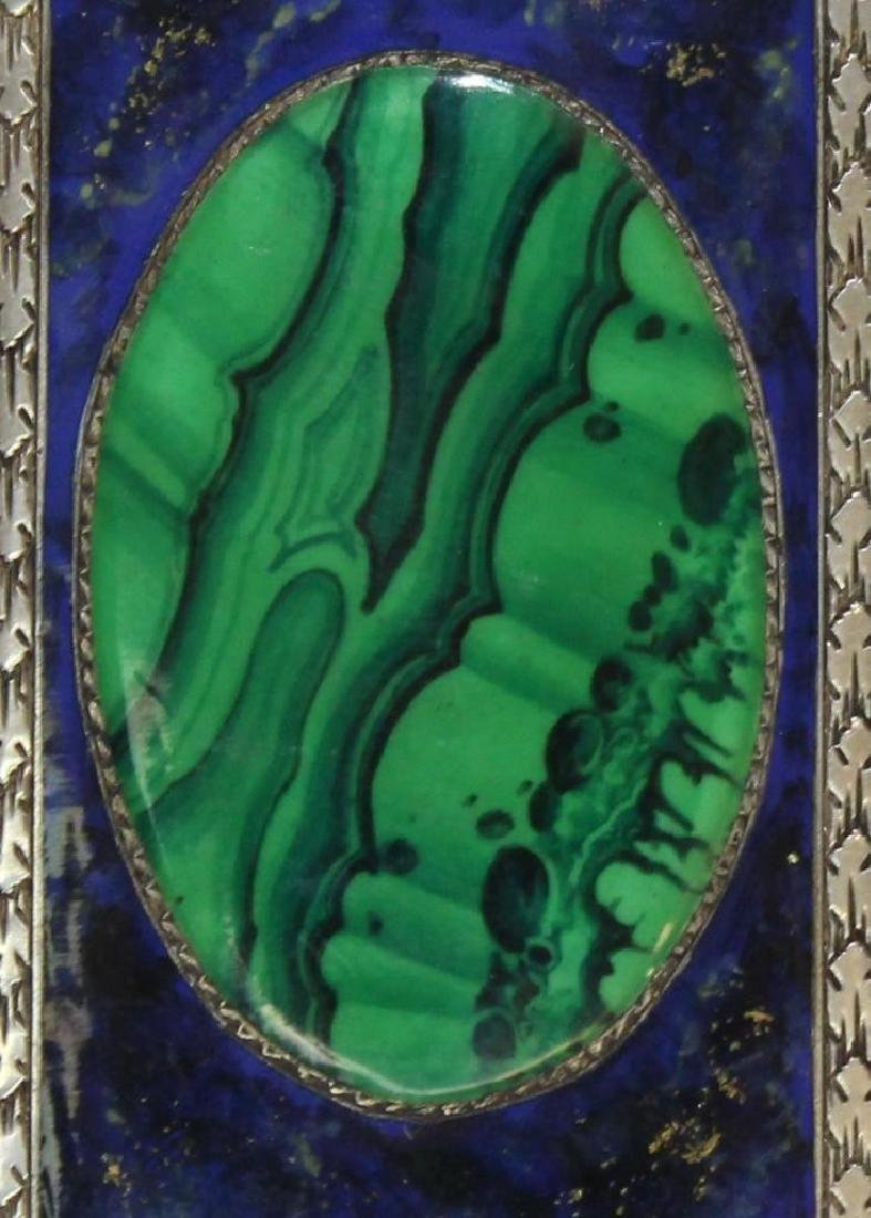 Silver, Lapis and Malachite Card Holder - 3