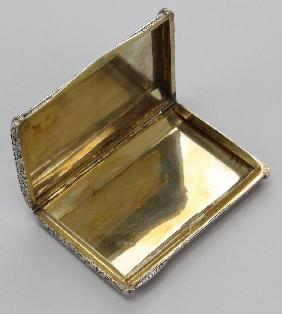 Silver, Lapis and Malachite Card Holder - 6
