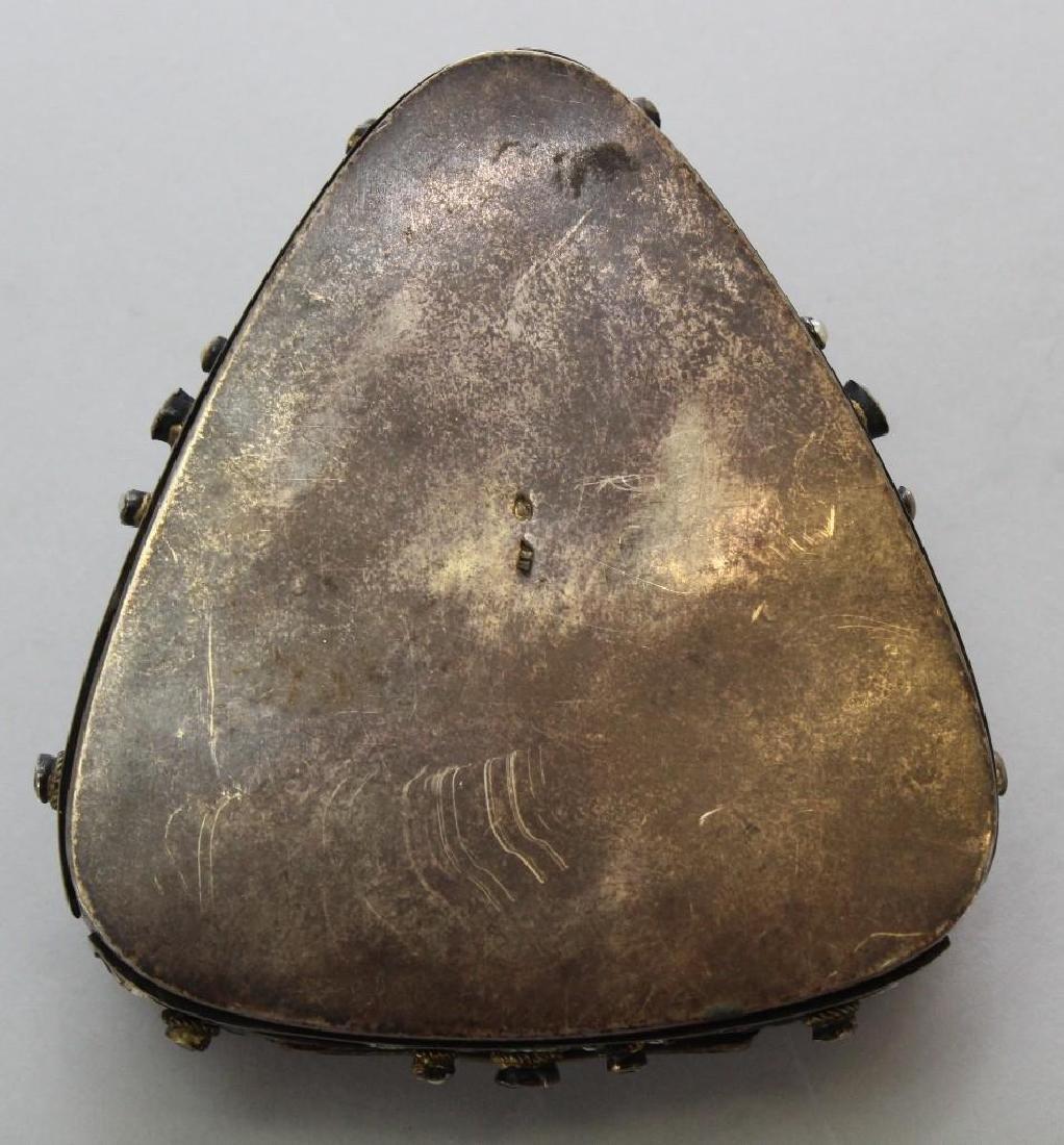 Silver Jeweled Enamel Box - 6