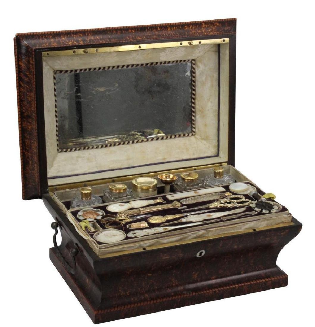 19th C. Travel Sewing Case