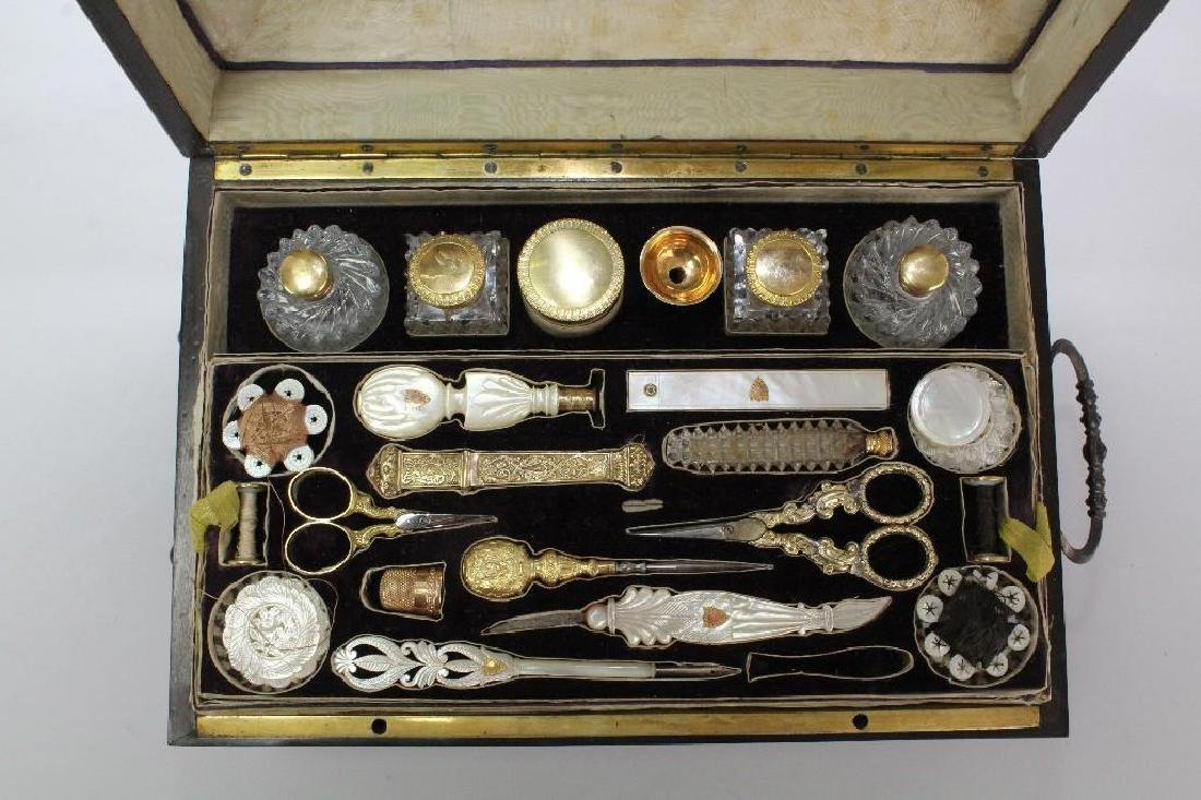 19th C. Travel Sewing Case - 3