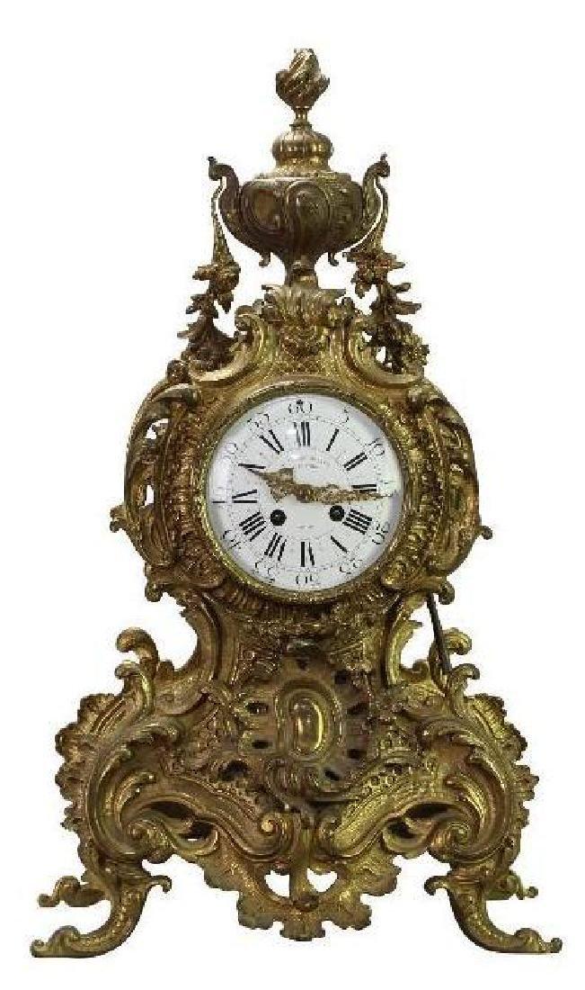 L'Charvet Aine' & Cie French Mantle Clock