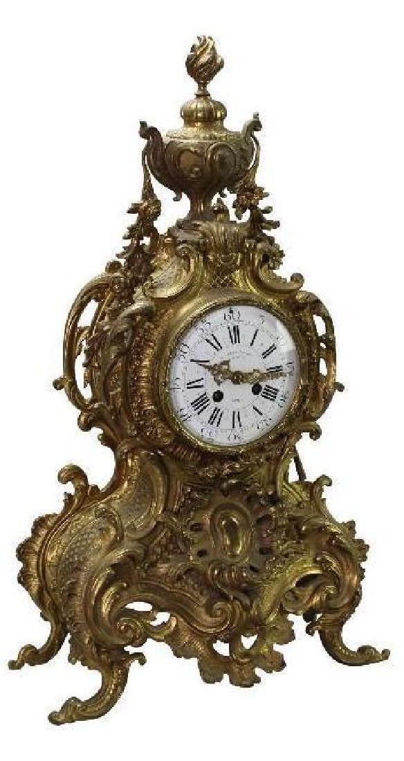 L'Charvet Aine' & Cie French Mantle Clock - 2
