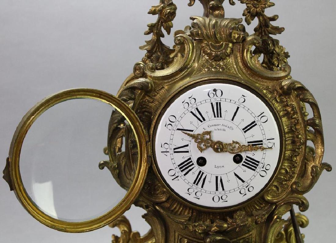 L'Charvet Aine' & Cie French Mantle Clock - 5