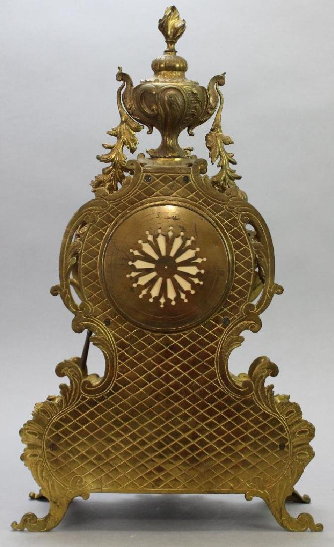 L'Charvet Aine' & Cie French Mantle Clock - 8