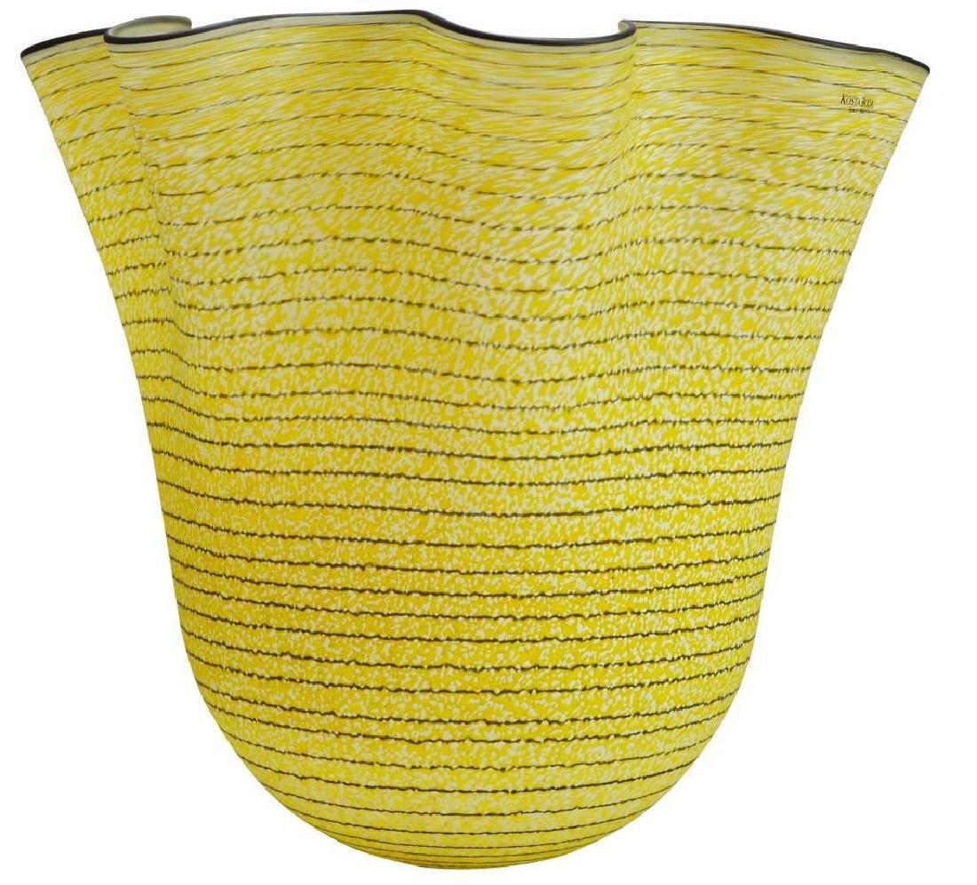 Kosta Boda Art Glass Vase