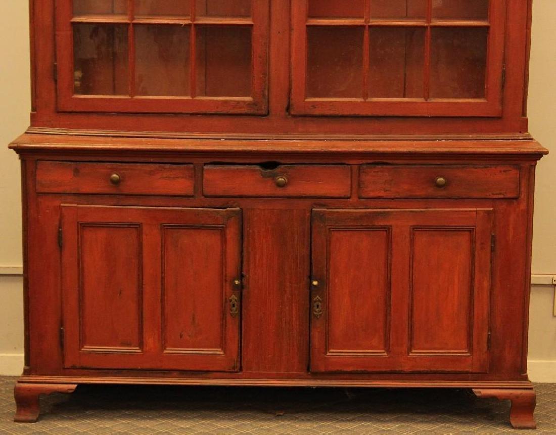 PA Dutch Cupboard in Red Wash - 6