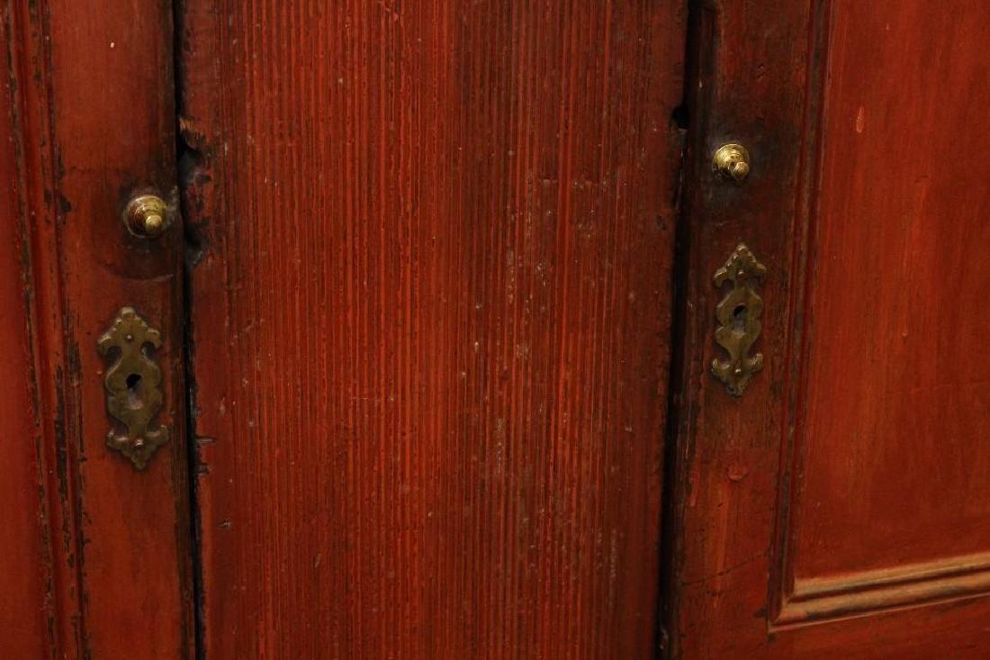 PA Dutch Cupboard in Red Wash - 9
