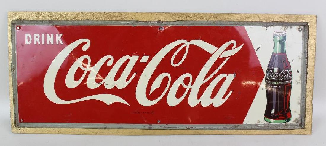 Coca-Cola Enamel Sign and Themometer - 2