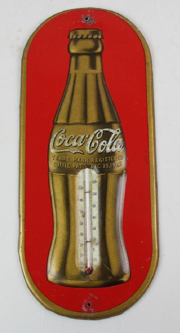 Coca-Cola Enamel Sign and Themometer - 4