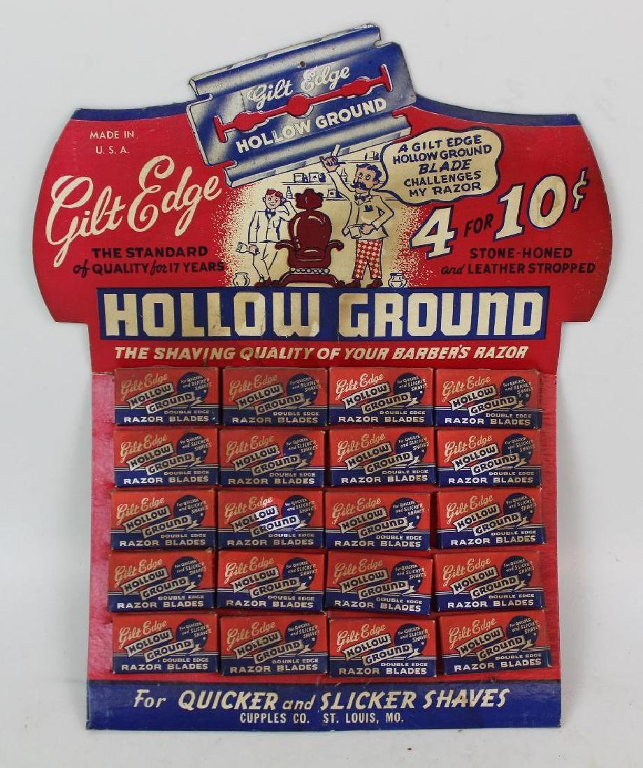 Hollow Ground Razor Blade Display